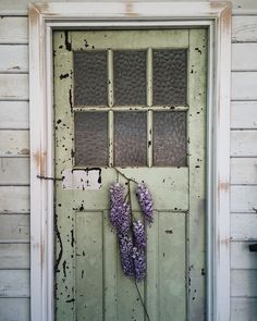 """oldfarmhouse: """"""""Slow Saturdays in the garden are my idea of a relaxing start to the weekend, hope you enjoy yours too🌿 . Window Dressings, Old Doors, Ladder Decor, Design, Windows, Wisteria, Hallways, Cape Cod, Shutters"""