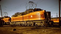 """(EF-4 and EP-4)  Chicago, Milwaukee, St Paul and Pacific (Milwaukee Road) G.E. class EF-4 and EP-4 (after modifcations) electric locomotives originally built for Russia.  """"Little Joes""""  (AAR) B-D+D-B.  5500 H.P.."""