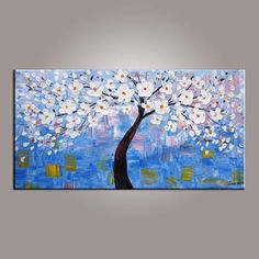 Abstract Canvas Art, Flower Tree Painting, Tree of Life Painting, Painting on Sale, Contemporary Art - Art Painting Canvas Tree Of Life Painting, Love Birds Painting, Tree Of Life Art, Acrylic Painting Flowers, Hand Painting Art, Painting Canvas, Texture Painting, 5 Piece Canvas Art, Textured Canvas Art