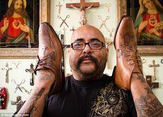 Oliver Sweeney x Henri Hate - Tattooed shoes