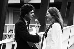 "♫ Leonard Cohen & Judy Collins in 1967. She introduced Cohen to the world when she recorded his song, ""Suzanne."" That was even before HE recorded it! ♫"