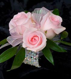 3 Pink Rose Wristlett Corsage: <span>Pink Rose Wristlett</span>