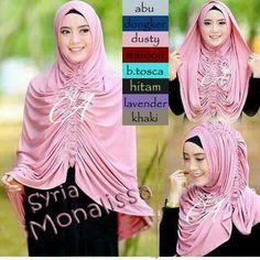 model kerudung terbaru - Jilbab Syria Monalissa Premium