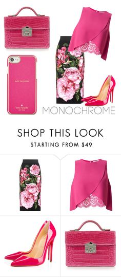 """Pretty in pink"" by asl26 on Polyvore featuring Dolce&Gabbana, Miss Selfridge, Christian Louboutin, Rubeus and Kate Spade"