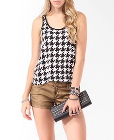 Houndstooth Tank  $12.80