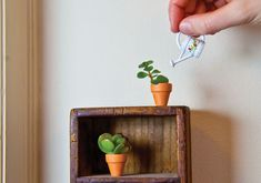 Garden on a small-scale with eensy microplanters you can make yourself. #Etsy