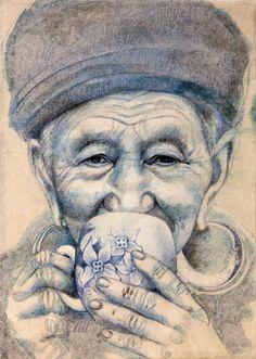 Stéphanie Ledoux - Carnets de voyage: Buveuse de thé Hmong