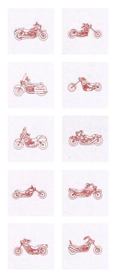 RW Bikes Embroidery Machine Design Details
