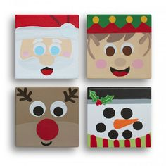 christmas paintings on canvas Christmas Activities, Christmas Crafts For Kids, Christmas Projects, Winter Christmas, Kids Christmas, Holiday Crafts, Holiday Fun, Christmas Gifts, Christmas Ornaments