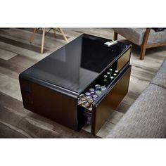 The Sobro is a smart coffee table designed to support your connected lifestyle. With a refrigerated drawer, 2 Bluetooth speakers, 2 USB charging ports, 4 outlets, and LED lights Coffee Table With Storage, Coffee Table Design, Coffee Tables, Table Storage, Dining Tables, Dining Set, Floating Entertainment Center, Wall Mount Electric Fireplace, Barrel Chair