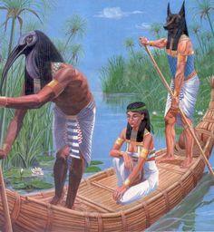 Thot, Isis et Anubis