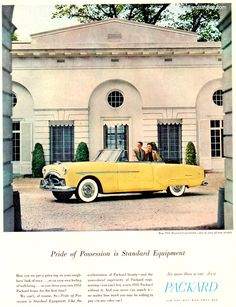 1951 Packard Convertible - Pride of Possession is Standard Equipment - Original Ad