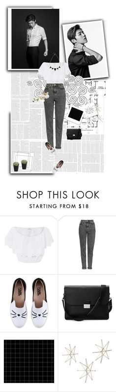 """SELECTION /177"" by kareeenn ❤ liked on Polyvore featuring Miguelina, Topshop, Karl Lagerfeld, Aspinal of London, Uttermost and Oasis"