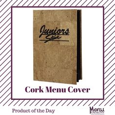 Product of the Day: Cork Menu Cover. One of our most popular specialty menu covers, the Cork Series offers a wide variety of cover styles to create a matching ensemble of dinner and drink menus. #menudesigns #menucover #drink #food #restaurant #bar #hotel