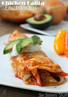 Chicken Fajita Enchiladas 1