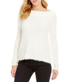 Chelsea & Violet Off-The-Shoulder Long Sleeve Sweater #Dillards