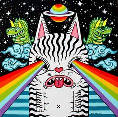 cosmic rainbow laser cat