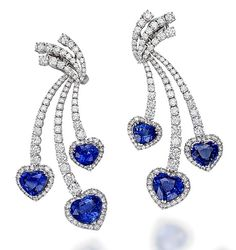 A perfect layout of Sri Lankan heart-shape sapphires is the focus of this dazzling earrings, Blue Hearts, that is the ultimate expression of Picchiotti's sophisticated design combined with the use of the finest raw materials and unsurpassable craftsmanship.