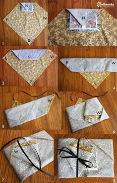 8step fold1 Furoshiki wrapping tutorial: Japanese cloth wrap technique #diy #crafts