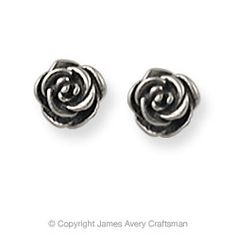 Rose Ear Posts from James Avery