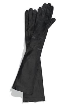 Leather gloves. Go long, go short or go driving glove. Make a statement.
