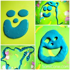 Fun things my kids made with their homemade goo! Find out how to make goo and other homemade kids craft ideas & recipes.