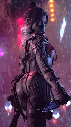 Amazing Apex Legends Phone Wallpaper - Sexy FanArt by RoguePolice Photo Category:Gaming Addiction. Join our sharing community for more HD wallpapers, free stock photos and epic photography Arte Cyberpunk, Cyberpunk Girl, Cyberpunk 2077, Cyberpunk Tattoo, Cyberpunk Clothes, Character Concept, Character Art, Concept Art, Fantasy Women