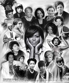 "This art print is entitled ""Great African American Women"" by Wishum Gregory! How many of them can you name? A great historical and motivational piece!"