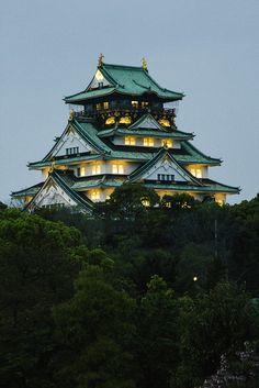 "travelingcolors: "" Osaka Castle, Osaka | Japan (by Kevin Tadge | ktadge.tumblr.com) """