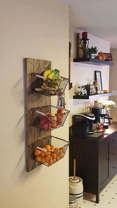 47 Small Kitchen Decor Ideas On a Budget to Maximize Existing the Space ~ grandes.site 47 Small Kitchen Decor Ideas On a Budget to Maximize Existing the Space ~ grandes. Diy Kitchen, Kitchen Design, Kitchen Storage, Wall Storage, Storage Ideas, Space Kitchen, Open Kitchen, Metal Kitchen Shelves, Open Pantry