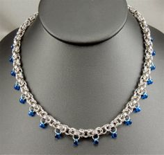 Byzy Blue Teardrops - Bead Style Magazine. Would be nice with crystal beads also.
