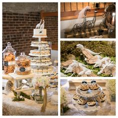 Dinosaur themed wedding and dessert bar! www.ashleycakes.com