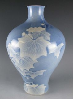 Studio Porcelain Vase, Signed Makuzu Kozan