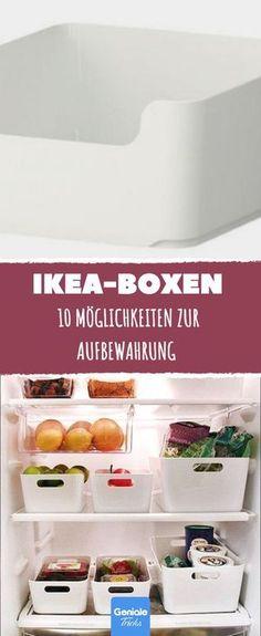 10 Möglichkeiten, IKEA-Boxen zur Aufbewahrung zu verwenden.