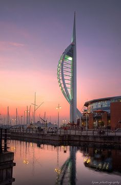 Spinnaker Tower and Gun Wharf, Portsmouth, England
