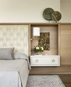 #Bedroom Love the floating nightstand http://pinterest.com/altogetherhome/