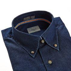 Alara Soft Wash Italian Black Denim Button Down Shirt