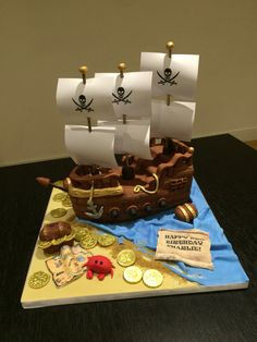 Pirate Ship Cake by Victoria Defty Couture Cakes!