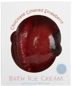 ME! Bath Bath Ice Cream-Chocolate Covered Strawberry by Me! Bath. $8.59. Chocolate Covered Strawberry features the sweet scent of ripe strawberries mixed with a rich, bold chocolate aroma. Soothes sore muscles and feelings of stress. Moisturizes and softens the skin. Gorgeous, aromatherapeutic fragrance. Features botanical oils and purifying minerals. See www.mebath.com