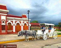 http://OkGranada.com #Follow @sheylacurtis: White carriage ride #Granada #Nicaragua #ILoveGranada #AmoGranada #Travel #CentralAmerica #GranadaNicaragua #horsecarriage