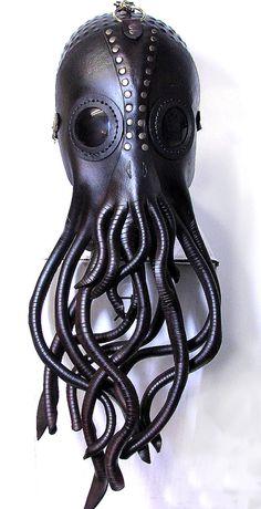 Steampunk Cthulhu Mask Nautical giant squid by WastelandArtisan