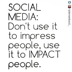 Don't use #SocialMedia to impress - use it to IMPACT.#marketing #marketingtips #marketingadvice #smm #socialmedia #socialmediamarketing #socialmediatip #marketingtips #marketingtips #business #content #contentmarketing #b2b #quote #quotes #quoteoftheday #socialmedialife #socialmediamanager #socialmediamarketing #socialmediamanagement #marketinglife #marketer #digitalmarketing #life #business #b2b #work #socialmedialife