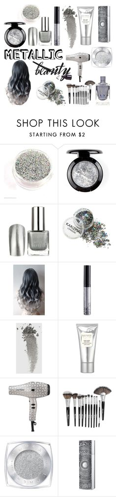 """Silver Sanity"" by selah-mcmullin ❤ liked on Polyvore featuring beauty, NYX, Gucci, Laura Mercier, Cortisio, Morphe, L'Oréal Paris, Kilian, Silver and makeup"