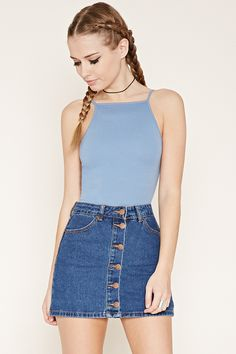 Caged-Back Cropped Cami Crop Top Outfits, Crop Top And Shorts, Cropped Cami, Basic Outfits, Summer Outfits, Cute Outfits, Crop Tops, Cut Off Shirt, Belly Shirts