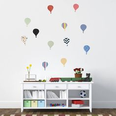 'children's hot air balloon' wall stickers by oakdene designs | notonthehighstreet.com
