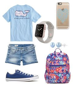 """""""👋"""" by nikkisfashion273 on Polyvore featuring Vineyard Vines, Vera Bradley, Pepe Jeans London, Converse and Casetify"""