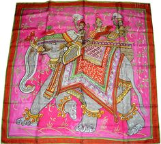 """Beloved India (from <a href=""""http://piwigo.hermesscarf.com/picture?/4632/category/139-orange"""">HSCI Hermes Scarf Photo Catalogue</a>)"""