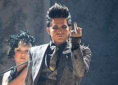 Adam Lambert with the bone