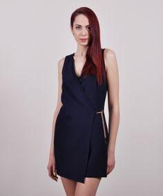 Grama | ΟΛΟΣΩΜΗ ΦΟΡΜΑ ΜΕ ΑΛΥΣΙΔΑ One Shoulder, Shoulder Dress, High Neck Dress, Dresses, Fashion, Turtleneck Dress, Vestidos, Moda, Fashion Styles