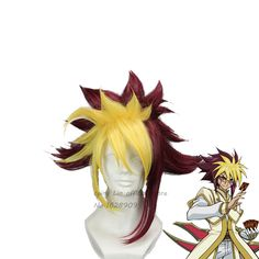 Yu-Gi-Oh ZEXAL IV Short Yellow And Red Anime cos Party Wig Special Cosplay Wig Lolita Wig  +wig cap free shipping peruca